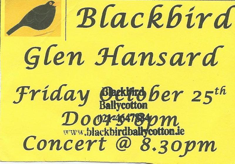 Ticket Glen Blackbird 25.10.13