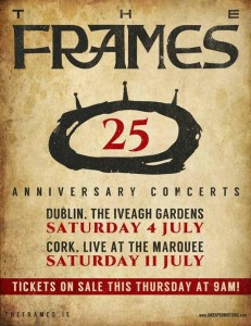 The Frames 25th Anniversary Gigs