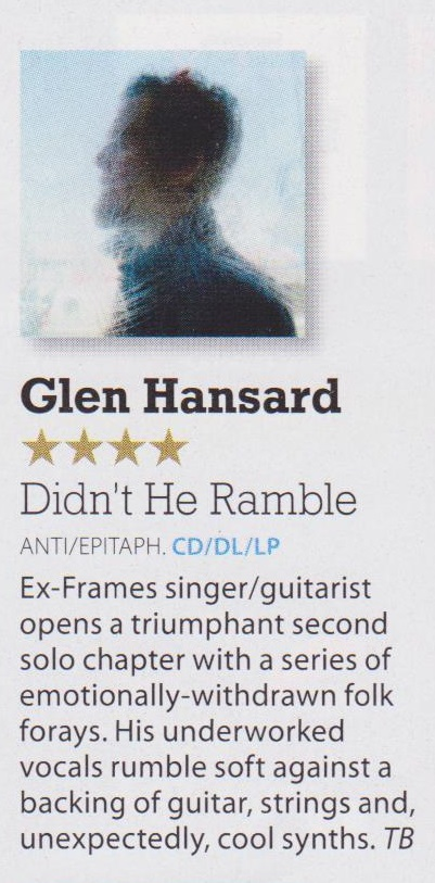 Glen Hansard - Mojo album review Aug 2015